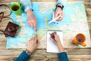 people planning their travel